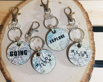 World Key Chains with Sayings