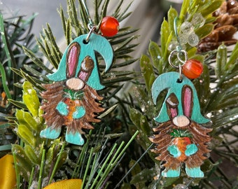 statement jewelry holiday gnomes Gnome earrings springtime gnomes easter gnomes Easter basket stuffers easter gifts for her gnomes
