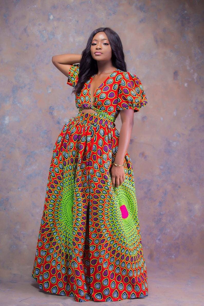trendy wear. Ankara clothing Ankara  maxi dress African fashion women/'s wear