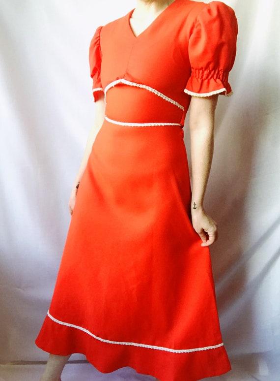 Vintage 1960's Folk Dress Full Length