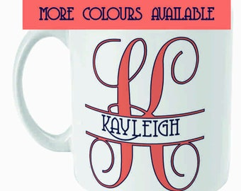 Personalised Name Coffee Mug Custom Name Mug Gift for Him Present for Her Birthday Leaving New Mum Gift Your Name Tea Cup 11oz Sublimated
