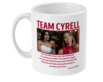 Married at first sight Team Cyrell Martha mafs quote sublimated 11oz white ceramic coffee mug tea cup