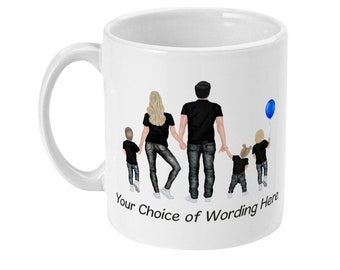 personalised family coffee mug custom sibling 11oz white sublimated friends family gift present mothers day birthday