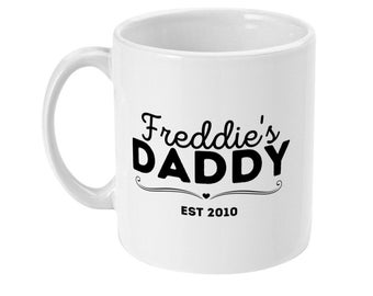 Personalised Daddy mug with child's name Father's Day gift for Dad unique gift for Dad custom gift for Daddy coffee mug