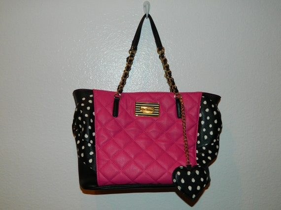 Betsey Johnson Vintage Quilted Leather Tote