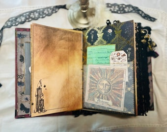 The Haunted Forest Junk Journal For Sale Grimoire Book of Shadows Diary Handmade Hardcover Large