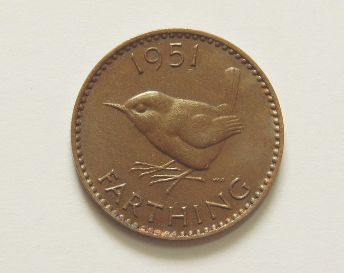 Collections 1951 Farthing Coin Great Britain George VI Perfect for Birthdays Anniversary Crafting and Jewellery.