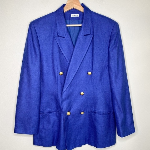 Vintage Doncaster WovenSilk double breasted blazer