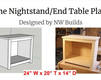 Nightstand, End Table, Book Shelf Plans