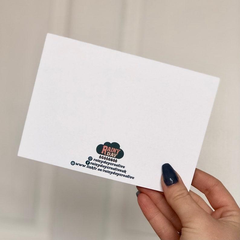 Burnout Candle Postcard  Positive Motivational Postcard  Self Care Postcard