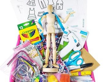 Tween Art Box, Fashion Design Box, Kids Art Box, Art Gift Box, Craft Box, Art Box, Fashion Design Kit, Tween Gift Box, Gift for Girl