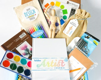 Kids Art Box, Art and Craft Box, Art Kit, Kid Art Supplies, Art Box, Art Gift Box, Artist Birthday Gift, Craft Kit for Kid, Kid Gift