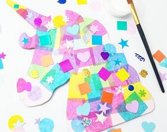 Kids Craft Kit, Unicorn, Birthday Gift, Art Kit, Unicorn Craft, Collage, Unicorn Art, Kids Craft, Party Box, Unicorn Birthday, Art Party