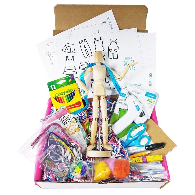 Tween Art Box Fashion Design Box Kids Art Box Art Gift Box image 0