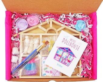 Dollhouse Craft Kit, Girls Art Kit, Craft Kit for Girl, Birthday Gift, Art Box, Girl Birthday, Craft Box, Art and Craft Box, Art Gift Box
