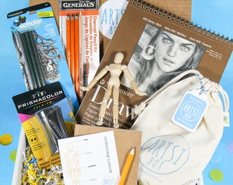 Kids Art Box, Art and Craft Box, Art Kit, Kid Art Supplies, Art Box, Art Gift Box, Artist Birthday Gift, Craft Drawing Kit for Kid, Kid Gift
