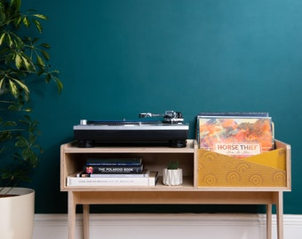 Record player unit designed in collaboration with Drew Millward
