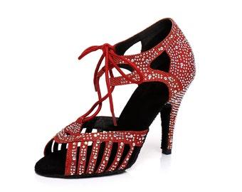 Glitter Dance Heels Lace Closure