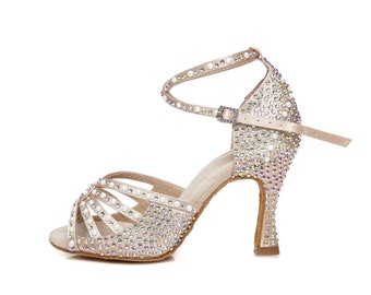 Crossover Straps Dance Sandals