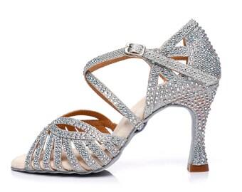 Silver Glitter Dance Sandals