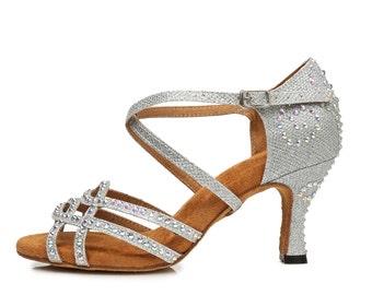 Corssover Glitter Dance Sandals