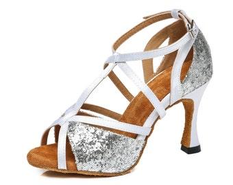 Strap Cross Over Dance Sandals