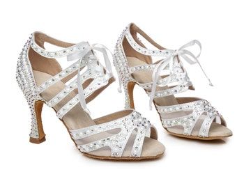 All Over Pearls Dance Sandals
