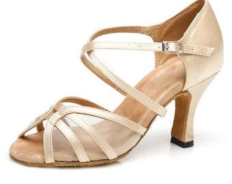 Peep Toe Mesh Dance Sandals