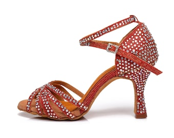 Red Dance Sandals