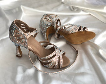 Wraparound Glitter Dance Sandals