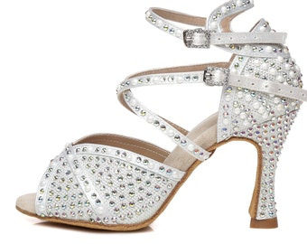 V-Cut Peep Toe Dance Shoes
