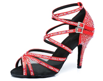 Crossover Stap Veil Dance Shoes