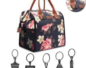 Lunch Bags For Women Lunch Tote Water-Resistant Cooler Bag Soft Leak Proof Lunch Box Fashion customized Name ID Tag