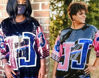 Jack and Jill of America JJ Sequin Jersey - OSFM Size S-XL