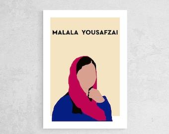 illustration Malala Jousafzai poster