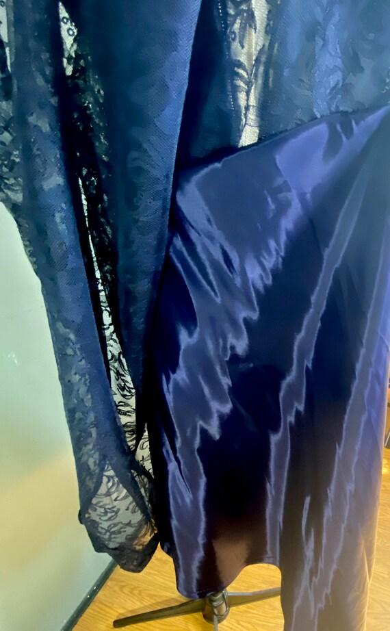 1950s navy blue lace Ceil Chapman cocktail dress - image 7