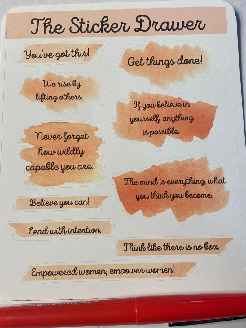 Positive Affirmation Planner Stickers