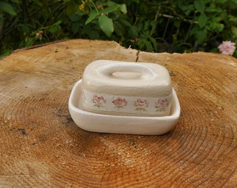 Hand-pottered small butter can