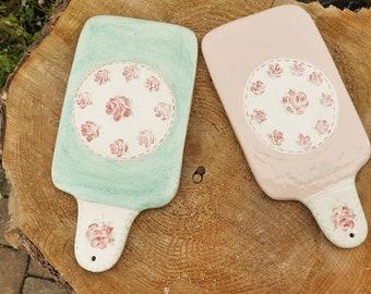 Romantic hand-pottered breakfast boards