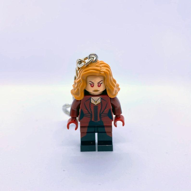 Nerdy Gifts Super Hero Keyring Super Heroes Vision Wanda Wandavision Figure Keychain Scarlet Witch