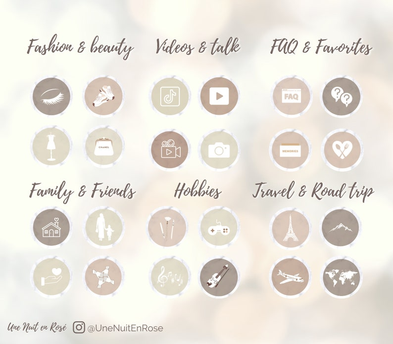 100 Counts 100 NUDENEUTRAL Instagram Story Highlight IconsCovers IG with marble font