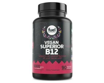 Vitamin B12 Methyl 5000mcg Methylcobalamin Capsules Vegan Safe 3 Month Supply