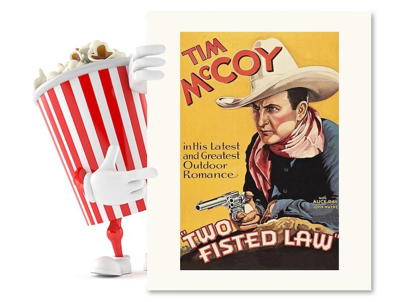 Vintage Movie Poster Cowboy Art Fearless Old West Americana Western Art Blank Greeting Card Adventure Wild West