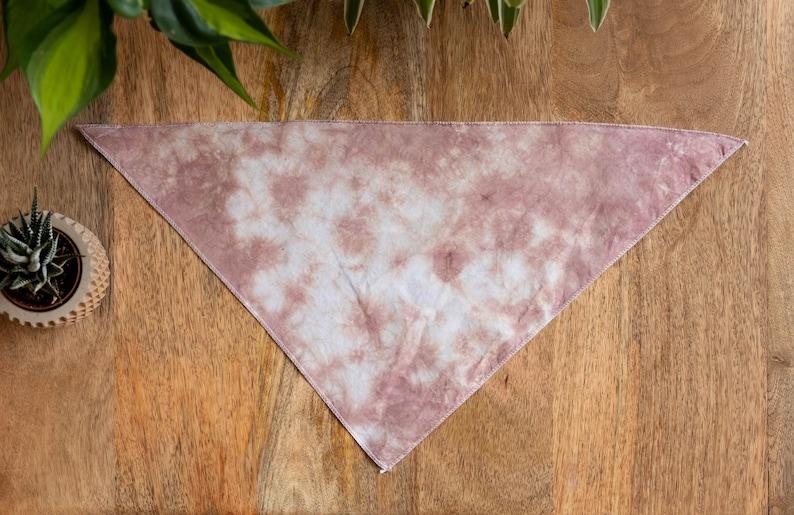 Dog Bandana Tan Crinkle Tie Dye