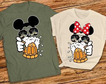 Cheers and ears shirts Mickey and Minnie Shirts, Drinking around the world Epcot shirts, Disney couple shirts, Disney matching shirts 2021