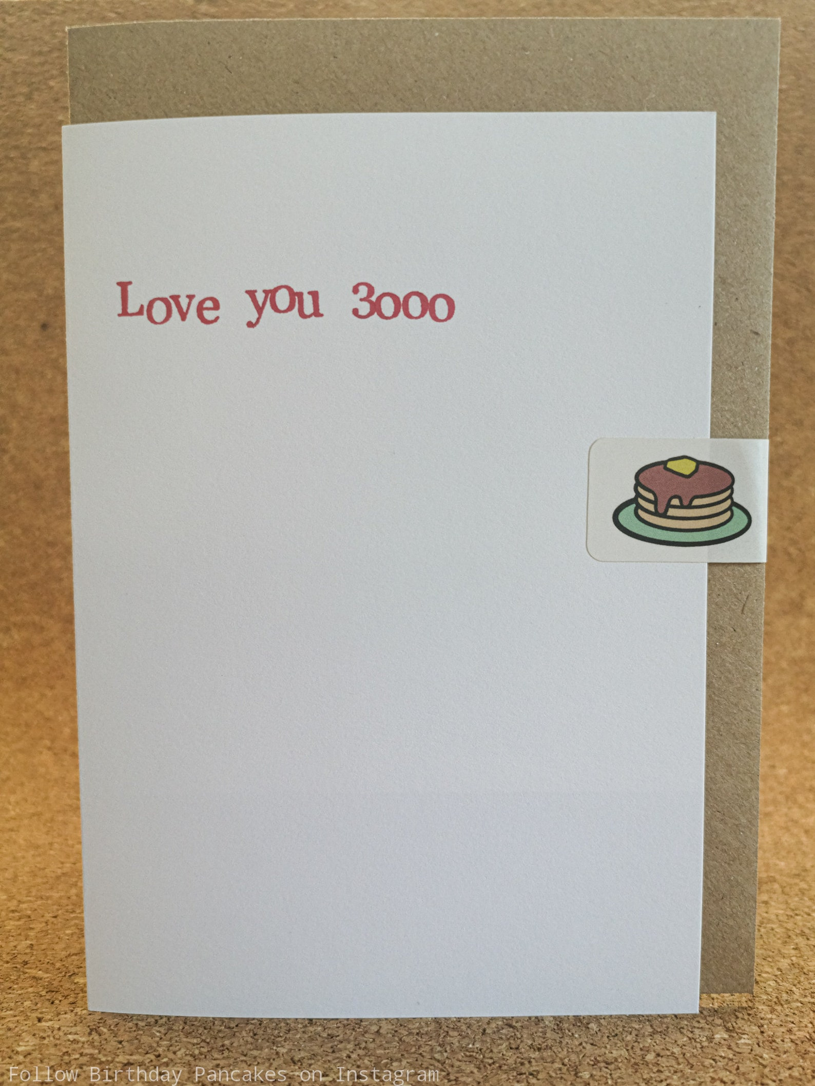 love you 3000 card quirky greeting card anniversary card