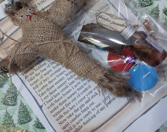 Handmade strong voodoo curse doll, revenge, hoodoo, wicca, pagan, wiccan, gift, authentic hessian