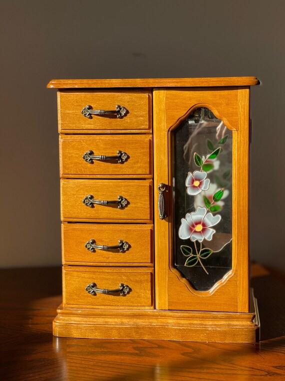 Glass & Mirror Jewelry Box