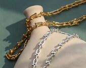 Tiffany Link Chain, U Link Choker,Chunky U Shaped Choker, 18K Gold, U Link Necklace, Pinball Linked, Gold Chain Necklace, Personalized Gift