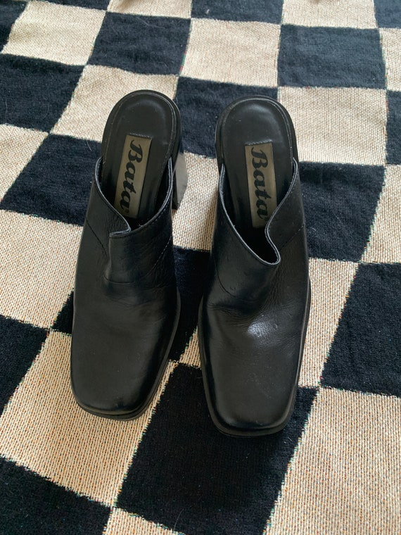 90's Leather Mules - image 4